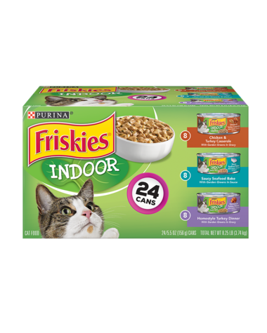 Friskies Indoor Wet Cat Food Variety Pack 24Ct | Purina