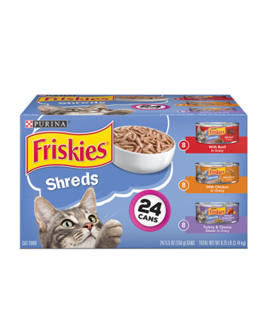 Friskies Shreds 24 Count Wet Cat Food Variety Pack