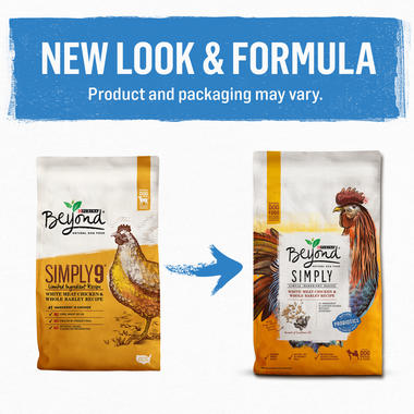 New Look New Formula Purina Beyond Simply White Meat Chicken & Whole Barley Recipe