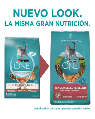 purina one tender selects blend salmon dry cat food new look spanish