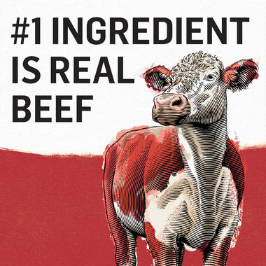 number one ingredient is real beef