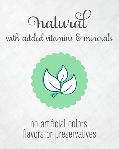 natural with added vitamins and minerals