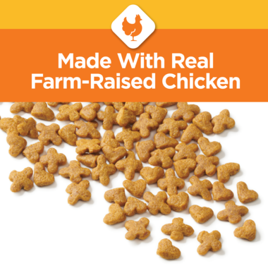 Real chicken cat food for your kitten.