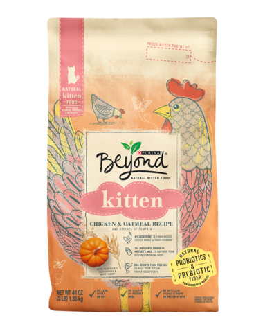 Beyond Kitten Chicken & Oatmeal Recipe Dry Cat Food