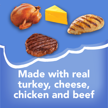 Made with real turkey cheese chicken and beef