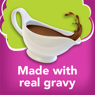 Made with real gravy