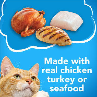 Made with real chicken turkey or seafood