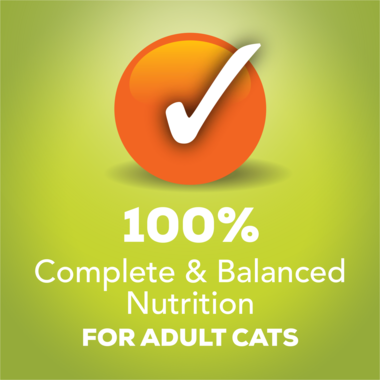 100% complete and balanced nutrition for adult cats
