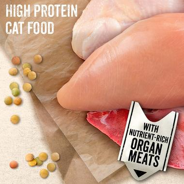 high protein cat food with nutrient rich organ meats