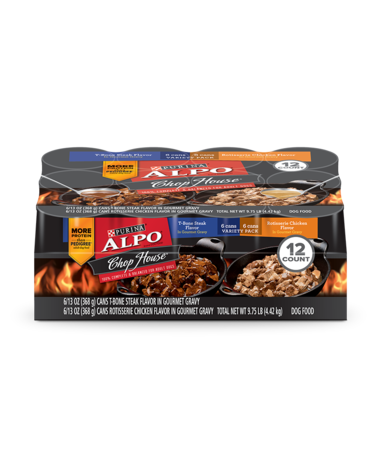 Alpo-Chop-House-TBone-Steak-and-Roasted-Chicken-12ct-Wet-Dog-Food-Variety-Pack