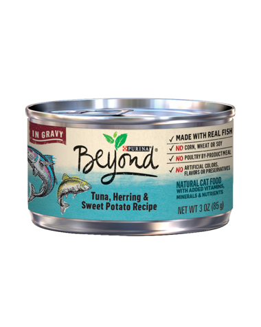 Beyond Tuna Herring and Sweet Potato Natural Cat Food
