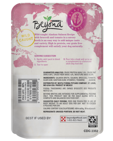 Beyond Alaska Salmon Wet Dog Food Toppers & Complements