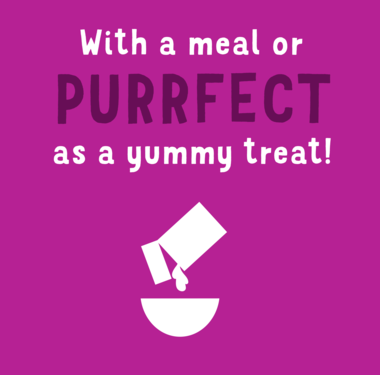 With a Meal or PURRFECT as a yummy treat