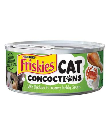 Cat Concoctions With Chicken in Creamy Crabby Sauce