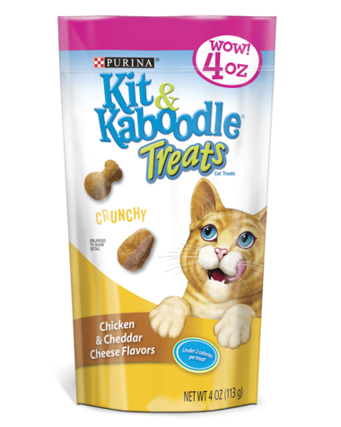Kit & Kaboodle Crunchy Chicken & Cheddar Cat Treats
