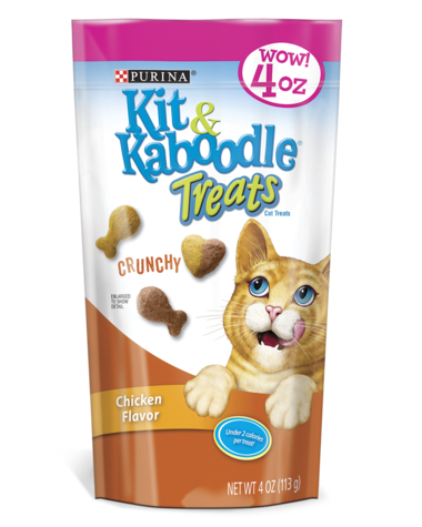 Kit & Kaboodle Crunchy Chicken Cat Treats