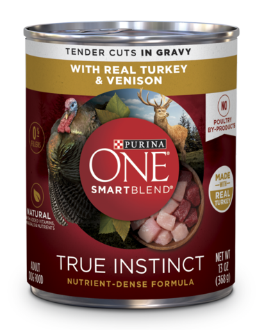 True-Instinct-Real-Turkey-Venison-Wet-Dog-Food-can