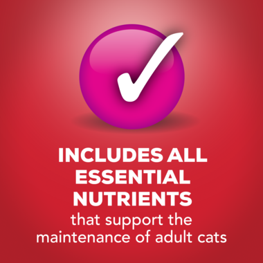 Includes all essential nutrients for adult cats