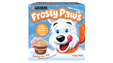 Frozen Dog Treat Peanut Butter Flavor