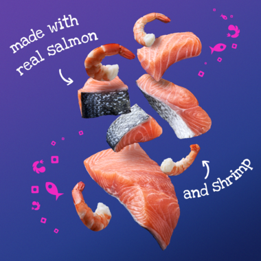 made with real salmon and shrimp