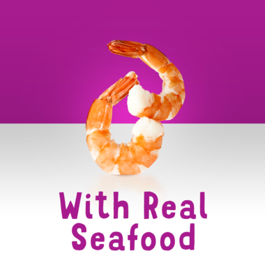 Made with real seafood