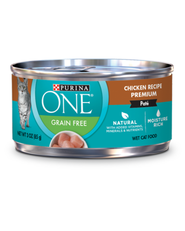 Purina ONE grain free chicken wet cat food