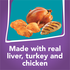 Made with real liver turkey and chicken