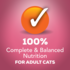 100% complete and balaned nutrition for cats