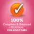 100% complete nutrition for cats