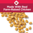 Made with real farm-raised chicken