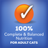 100% complete and balanced nutrition for cats