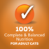 100 percent complete and balanced nutrition for adult cats
